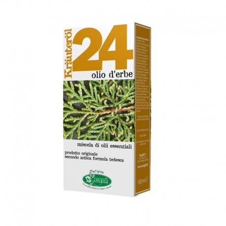 Krauterol 24 olio d'erbe ideale per massaggi ha proprietà defaticanti e tonificanti