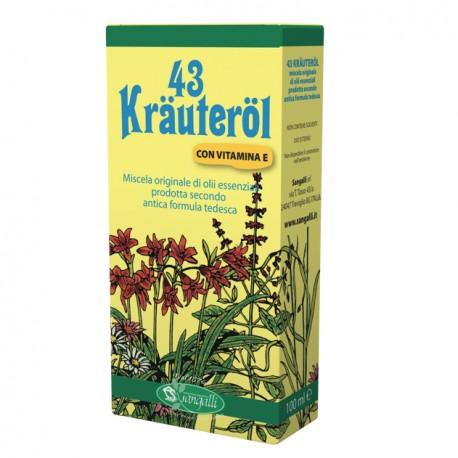Krauterol 43 olio d'erbe ideale massaggi defaticanti