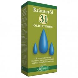 Krauterol 31 olio d'erbe con azione antinfiammatoria, antidolorifica, balsamica e antibatterica